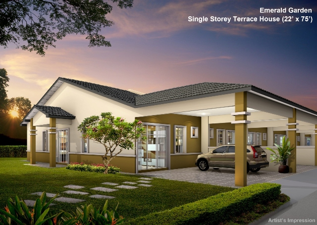 Batu pahat single storey terrace houses launched for for The terrace land and house