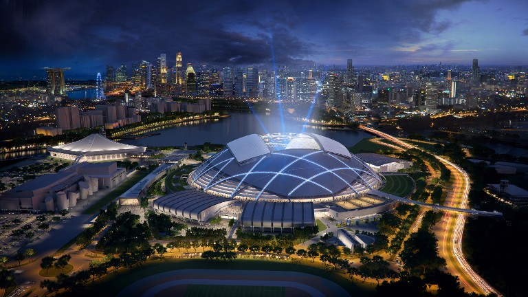 singapore sports hub wins coveted architectural award. Black Bedroom Furniture Sets. Home Design Ideas