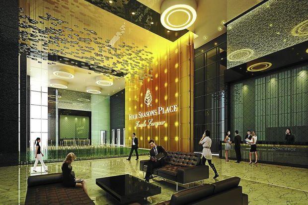 Four seasons place kuala lumpur klcc jalan ampang for Design hotel kl