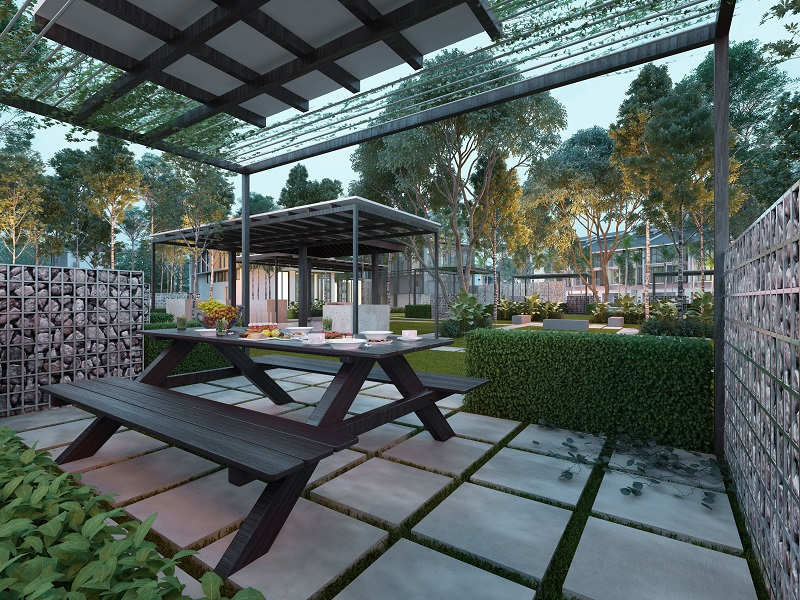 A barbecue spot for residents of Areca Contempo Homes