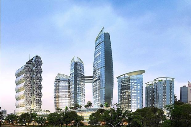 An artist impression of the PJ Sentral Garden City project