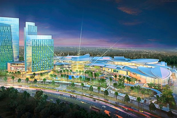 A rendering of the IOI City Mall and Le Meridien Putrajaya.