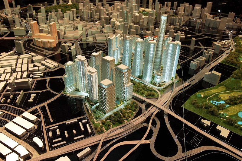 Model of Tun Razak Exchange. - THE STAR/Darran Tan