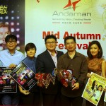 Don't miss it!: Tiew (centre) at the press conference for Andaman's 2014 charity and cultural events.