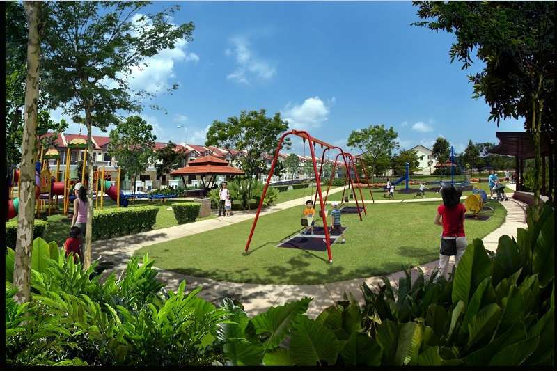 The playground of Kempas Utama township.