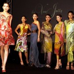 The designers have become known for their creative use of batik in their clothes.