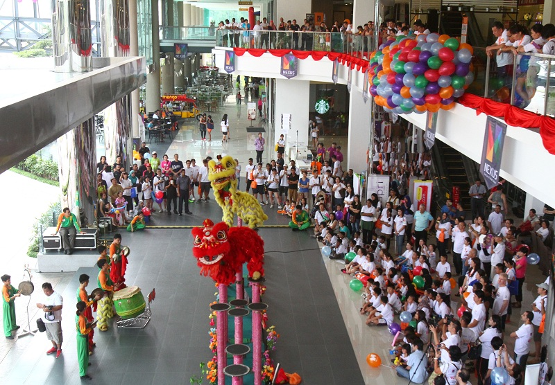 A lion dance performance to mark the grand launch of Nexus@Bangsar South.