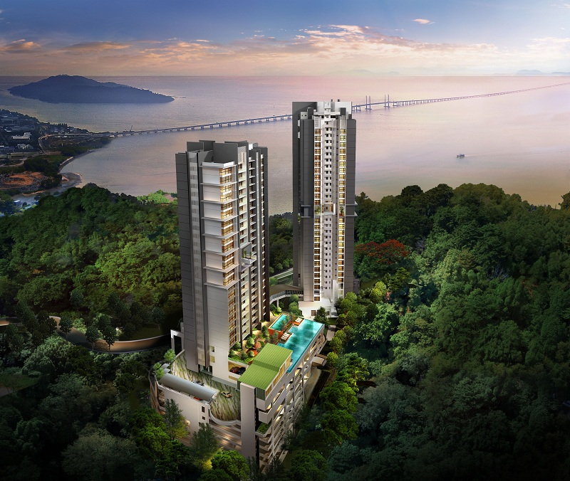 Breathtaking view: An artist's impression of the coastal project, comprising two towers of professional suites, residential suites and shoplex in Batu Maung.