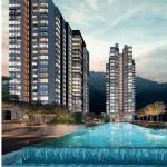Hillside hideaway: An artist's impression of The Marin condominium replete with a 40m-long infinity lap pool in Batu Ferringhi.