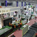 Preparation underway: Workers setting up booths for the fair at Kuala Lumpur Convention Centre.