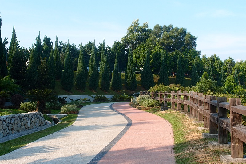 Cycling route in Putrajaya, which links eight public parks.