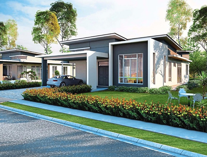 Single storey bungalow house design malaysia home design for One storey modern house design